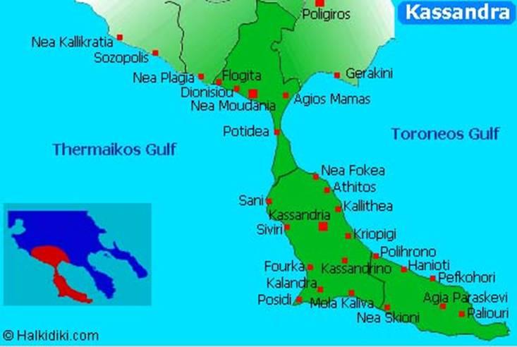 kalitea mapa Kalitea Grcka, Kalitea 2018 Halkidiki, apartmani Kalitea  kalitea mapa